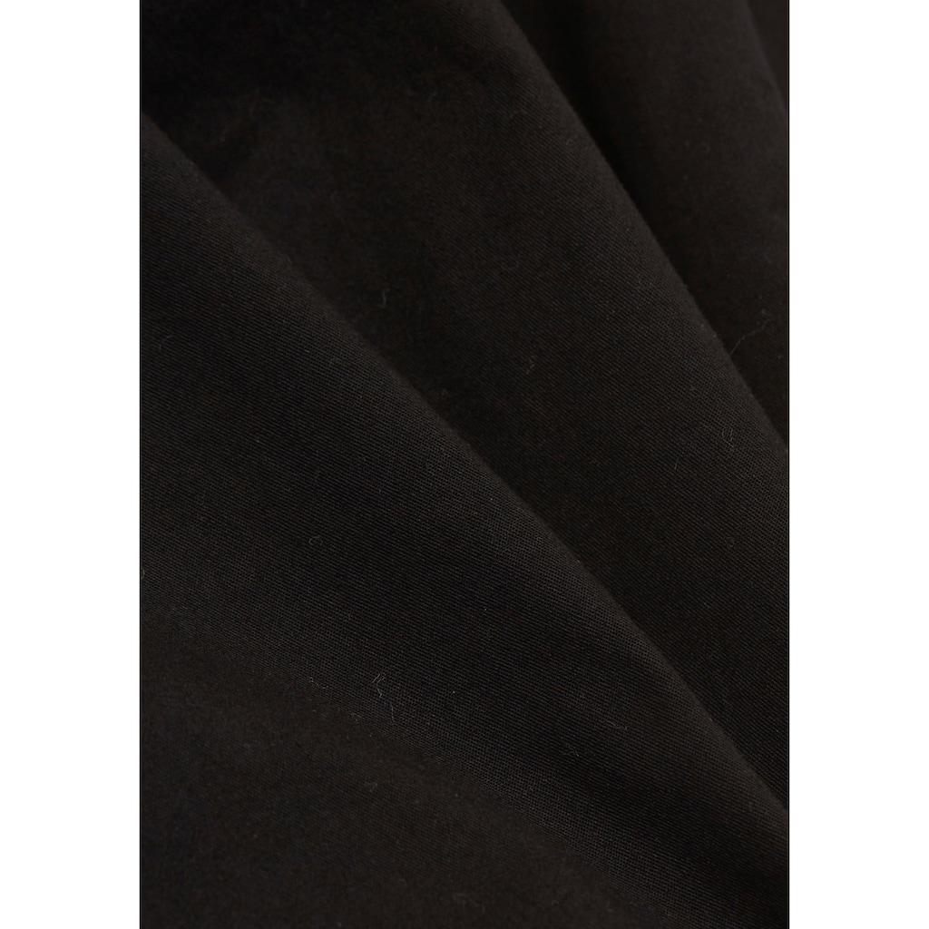 Esprit Chinohose, (2 tlg., mit abnehmbarem Gürtel), in geradem Schnitt mit schrägen Eingriffstaschen