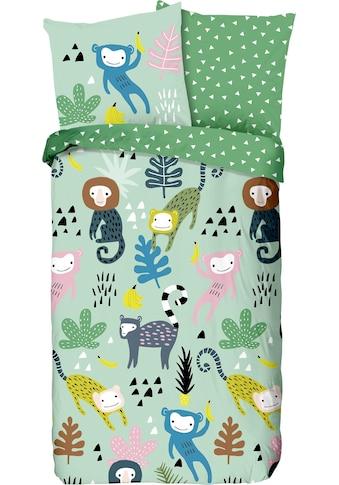 good morning Kinderbettwäsche »Monkeys«, mit Affen kaufen