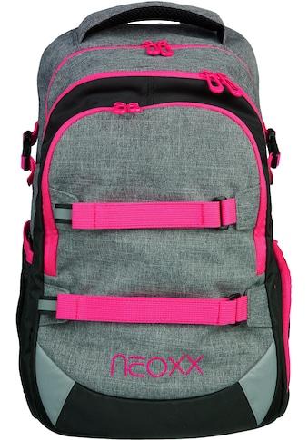 neoxx Schulrucksack »Active, Pink and Famous«, aus recycelten PET-Flaschen kaufen