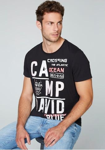 CAMP DAVID T-Shirt, mit Logoprint kaufen