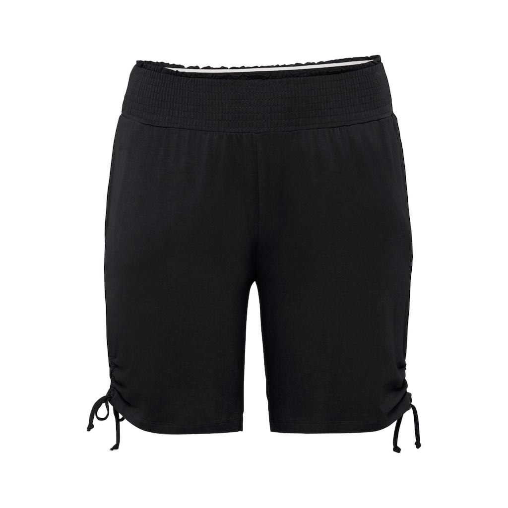 Sheego Shorts, mit seitlichen Raffungen und Smokbund