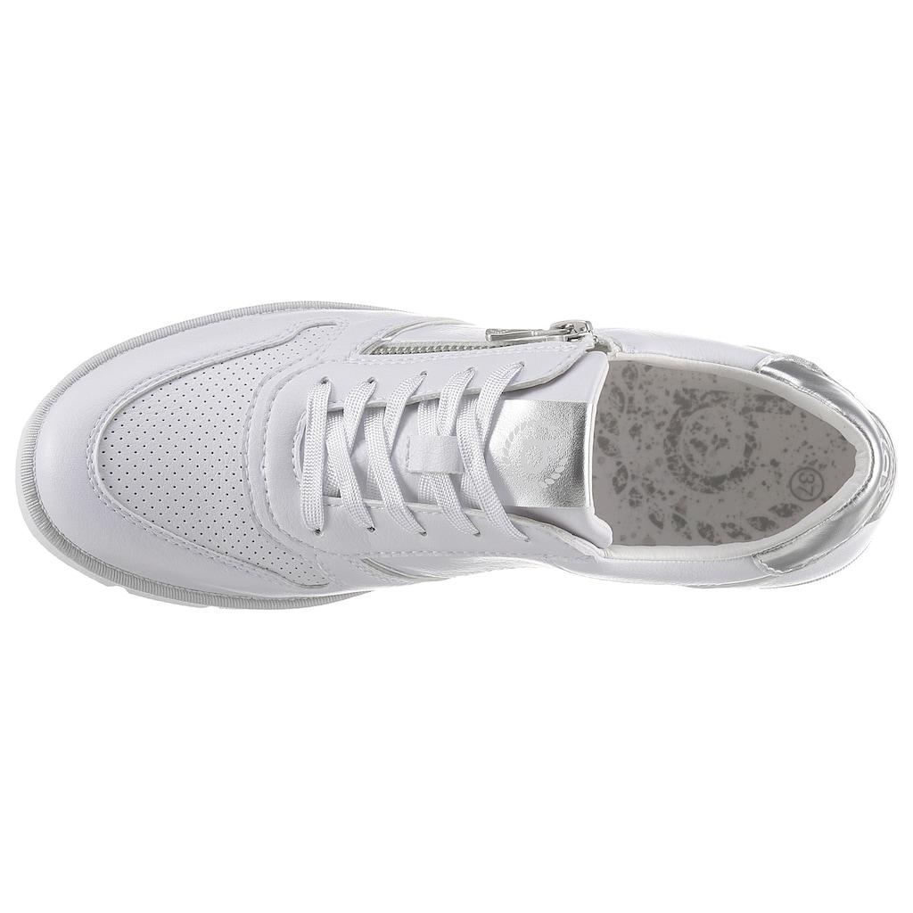 bugatti Keilsneaker »NICKI«, mit silberfarbenem Kontrastbesatz