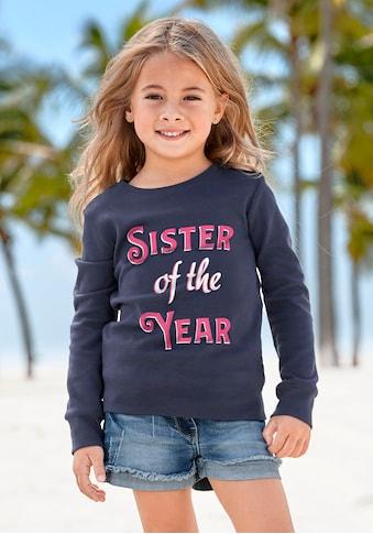 Arizona Langarmshirt »SISTER OF THE YEAR« kaufen