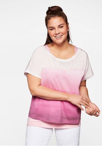 Sheego T-Shirt, 2-tlg in Batikoptik kaufen