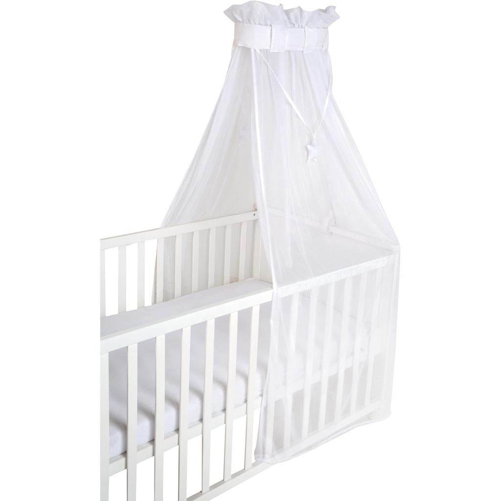 roba® Betthimmel »Air safe asleep® uni, weiss, mesh«