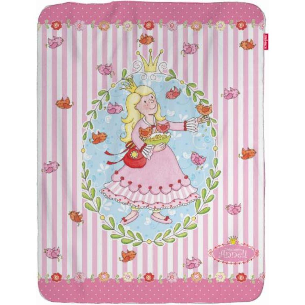 Wohndecke »Prinzessin Anneli Flower«, mit Prinzessin & Vögeln