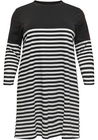 ONLY CARMAKOMA Jerseykleid, mit Streifen kaufen