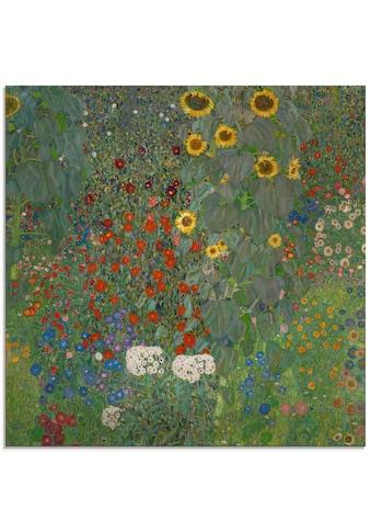 Artland Glasbild »Garten mit Sonnenblumen«, Blumenwiese, (1 St.) kaufen