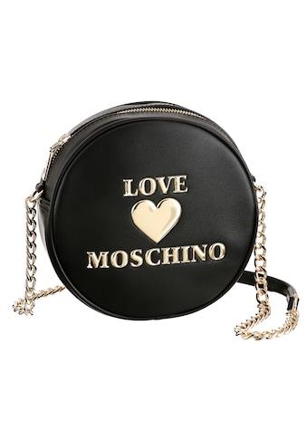 LOVE MOSCHINO Mini Bag, in runder Form mit goldfarbenen Details kaufen