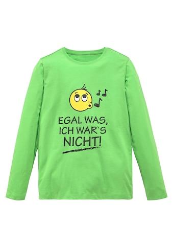 KIDSWORLD Langarmshirt »EGAL WAS, ICH WAR'S NICHT!« kaufen