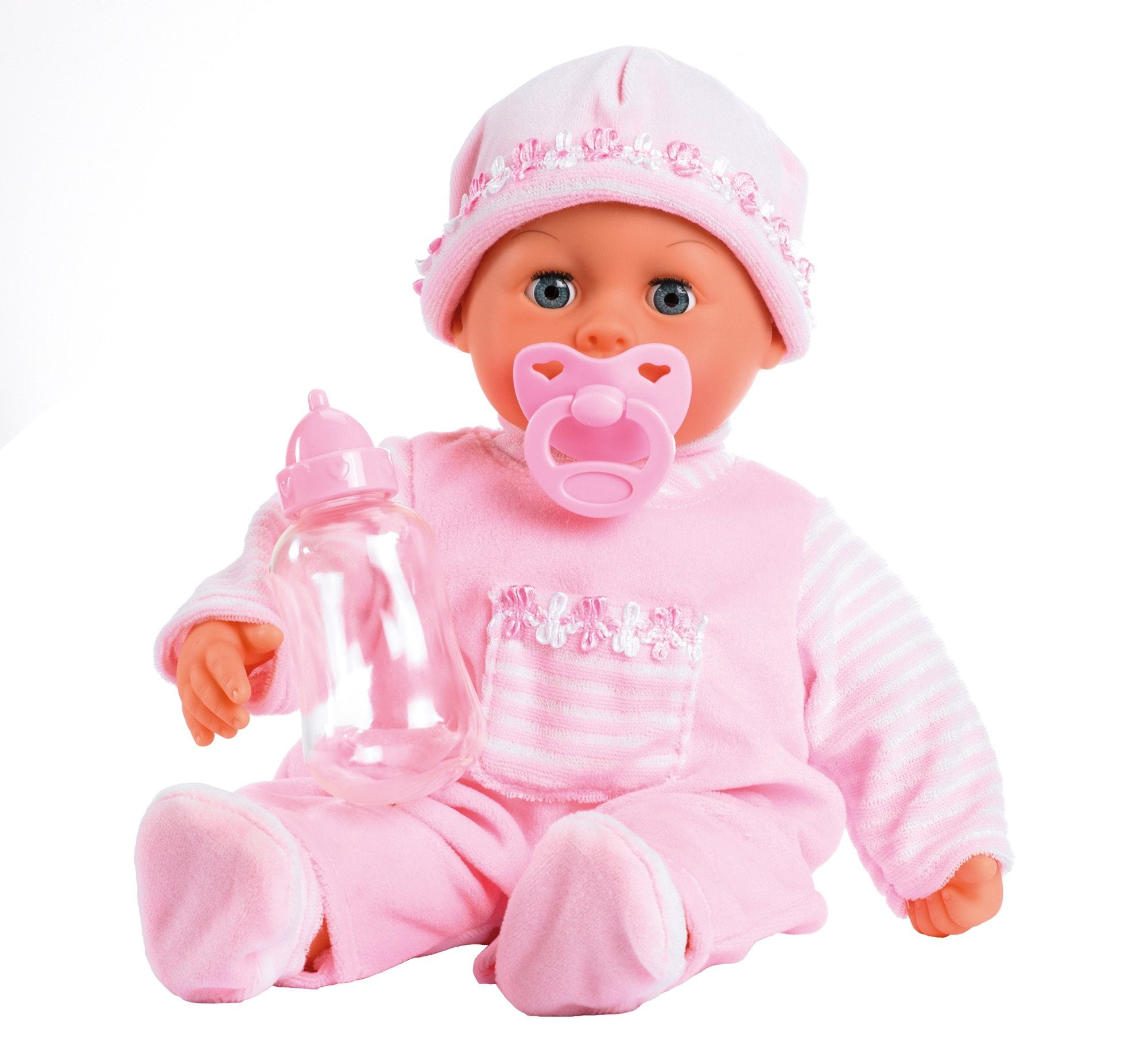 "Image of Bayer Babypuppe ""First Words, rosa"""