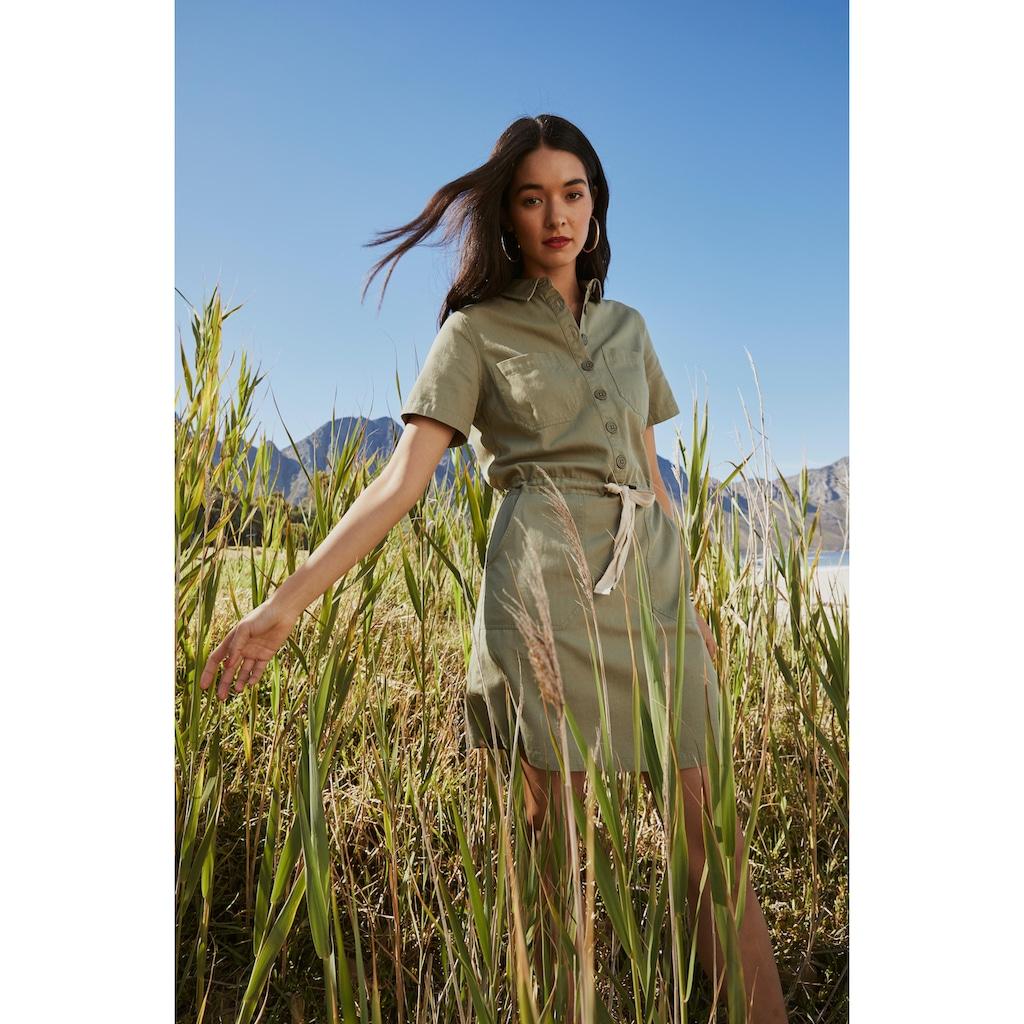 AJC Hemdblusenkleid, mit Bindeband in der Taillie