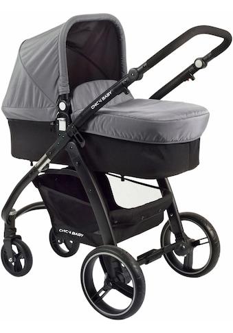 CHIC4BABY Kombi-Kinderwagen »Volare, grau-schwarz«, inklusive Sportsitz; Kinderwagen kaufen