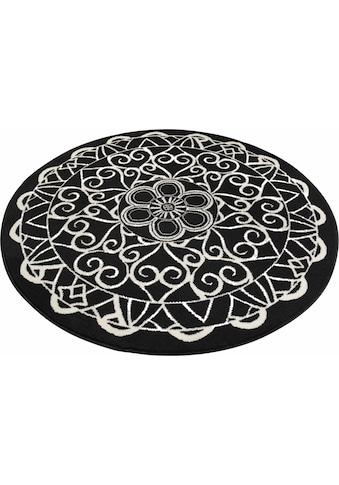 Zala Living Teppich »Mandala 1«, rund, 9 mm Höhe, Kurzflor, Wohnzimmer kaufen