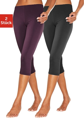 vivance active Caprileggings, (2er-Pack), mit Gummibund kaufen