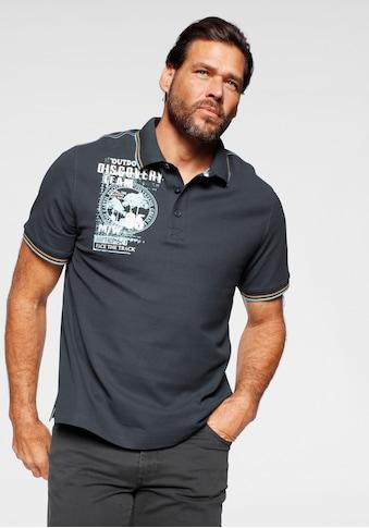 Man's World Poloshirt, Mit Print an der Schulter kaufen