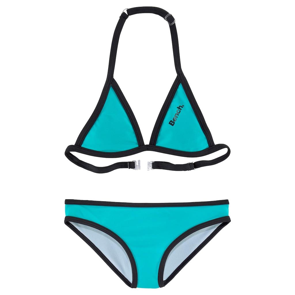 Bench. Triangel-Bikini, mit Logoprint an Top und Hose