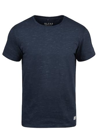 Blend Rundhalsshirt »Barnd«, Kurzarmshirt mit Melierung kaufen