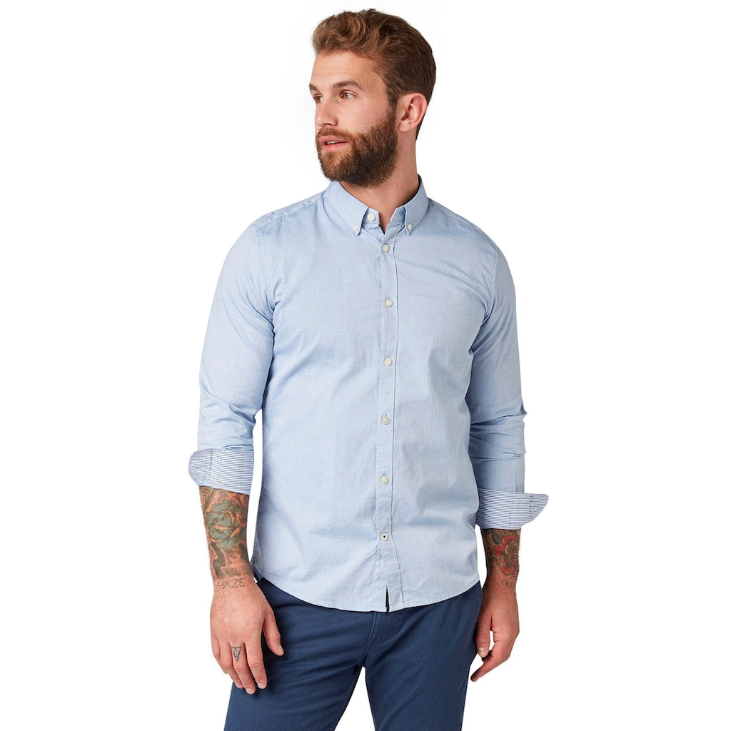 TOM TAILOR Langarmhemd, mit Button-down-Kragen