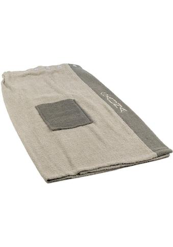 Gözze Sarong »Damen Wellness«, mit verstellbaren Knöpfen und aufgesetzter Tasche kaufen
