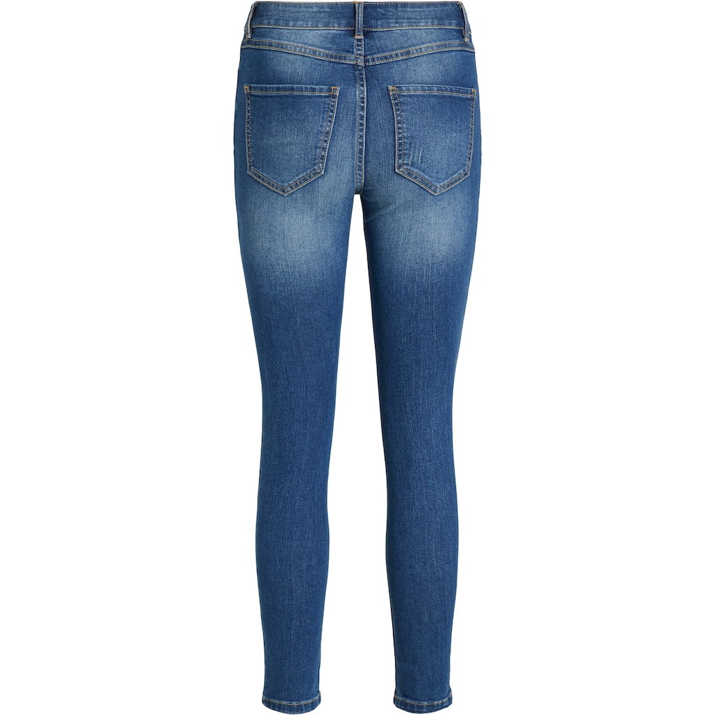 Vila 7/8-Jeans »VIEKKO«, mit leichten used Effekten