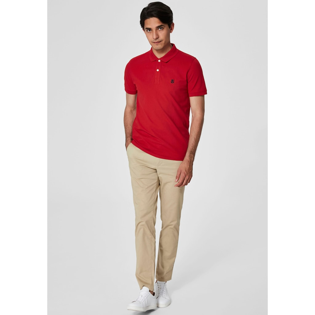 SELECTED HOMME Poloshirt »ARO EMBROIDERY POLO«