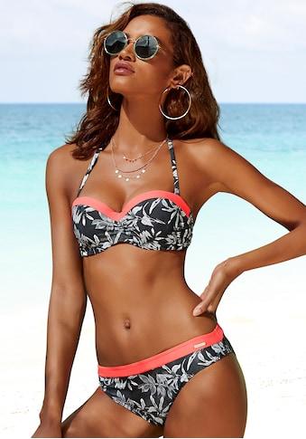 Sunseeker Bügel-Bandeau-Bikini-Top »Mono«, mit kontrastfarbenem Einsatz kaufen