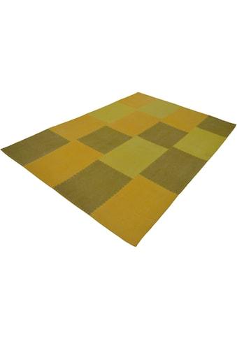 calo-deluxe Teppich »Cardainn 200«, rechteckig, 10 mm Höhe, reine Baumwolle, Wohnzimmer kaufen