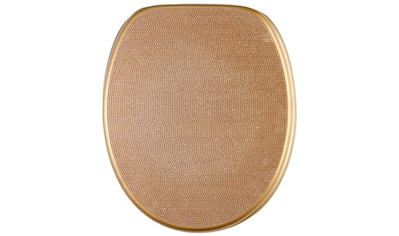 Sanilo WC-Sitz »Crystal Goldfarben«, mit Absenkautomatik kaufen