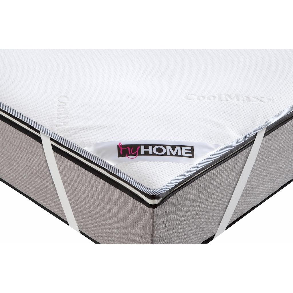 my home Matratzenauflage »Coolmax«, bekannt aus der Sport- und Freizeitbekleidung, wasserdicht und kühlend, ideal für Schwitzer