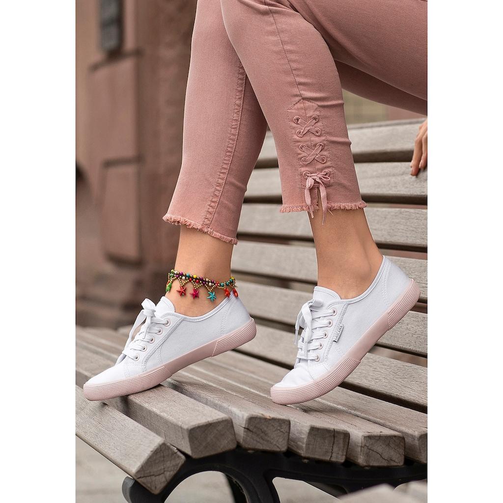 LASCANA Sneaker, mit farblich abgesetzter Sohle