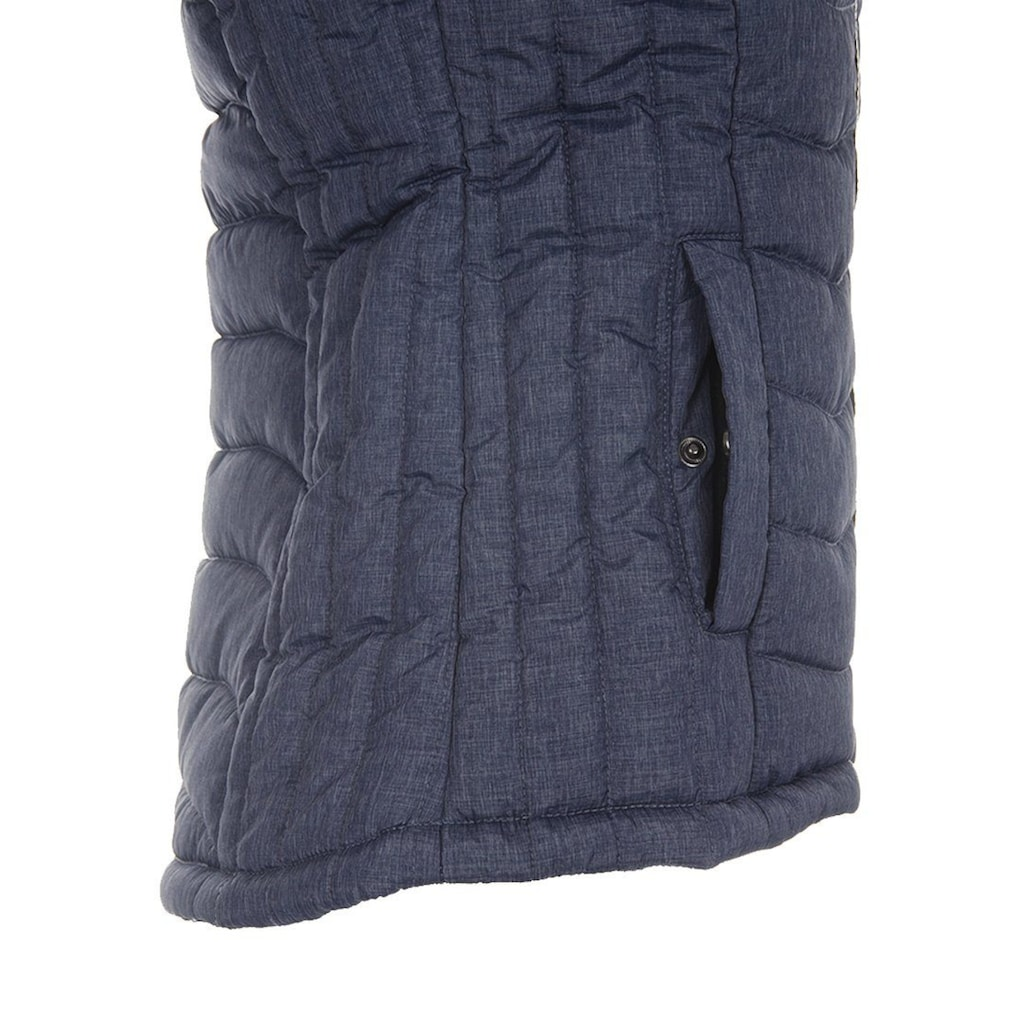 Blendshe Kurzweste »Neni«, Weste mit Fleece in der Kapuze