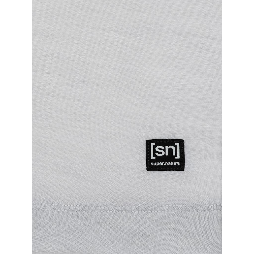 SUPER.NATURAL T-Shirt »W ISLA TEE«, optimaler Merino-Materialmix