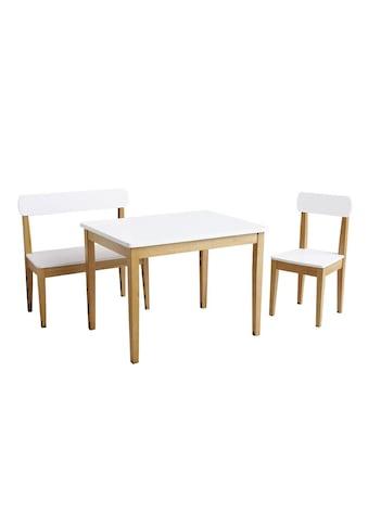 roba® Kindersitzgruppe »Weiss/Natur« (3 - tlg) kaufen