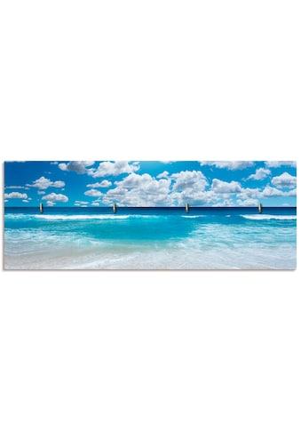Artland Schlüsselbrett »Grossartige Strandlandschaft«, aus Holz mit 4 Schlüsselhaken –... kaufen