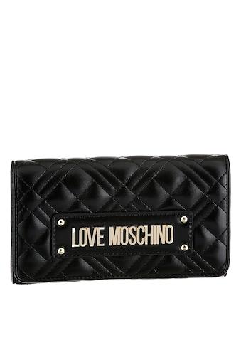 LOVE MOSCHINO Geldbörse »SLG NEW SHINY QUILTED«, mit trendiger Steppung und schicken... kaufen