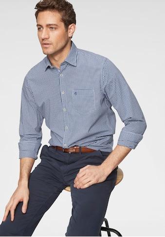 Marc O'Polo Langarmhemd, mit kleinem Karomuster kaufen