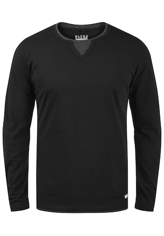 Blend Langarmshirt »Leonas«, Longsleeve mit Double-Layer-Optik kaufen
