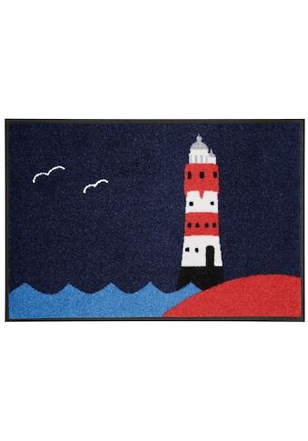 wash+dry by Kleen-Tex Fussmatte »Leuchtturm«, rechteckig, 7 mm Höhe, Schmutzfangmatte,... kaufen