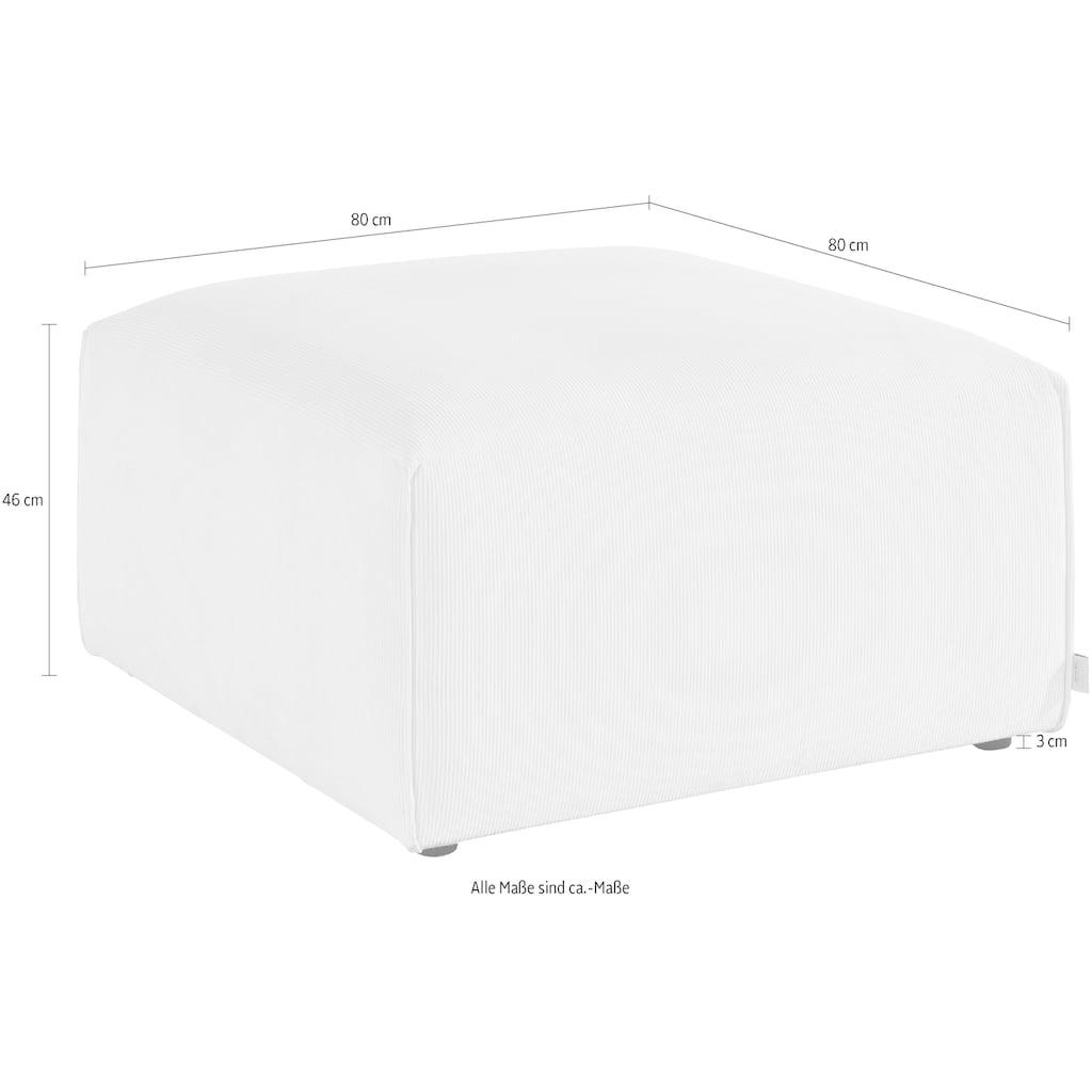 Guido Maria Kretschmer Home&Living Hocker »Comfine«, Modul-Hocker zur indiviuellen Zusammenstellung eines perfekten Sofas, in 3 Bezugsvarianten und vielen Farben