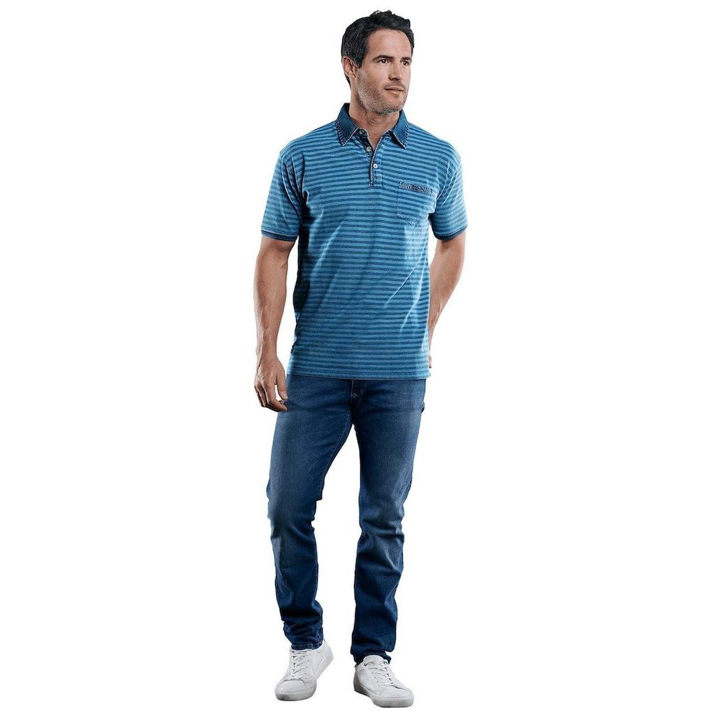 Engbers Poloshirt mit Jeanskragen