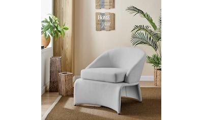 Home affaire Loungesessel »Isla«, mit einem schönen pflegeleichten Leinenstoff Bezug,... kaufen