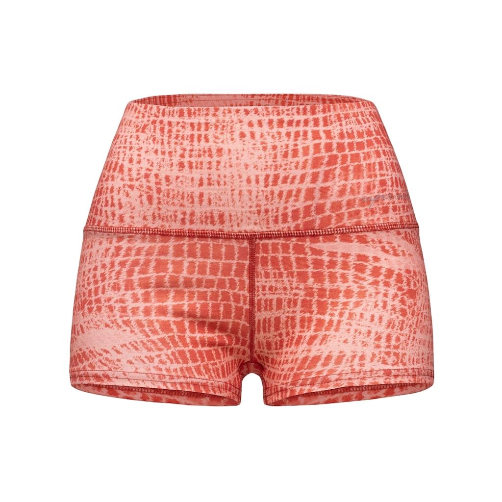 SUPER.NATURAL Shorts »W SUPER SHORTS PRINTED«, feinster Merino-Materialmix