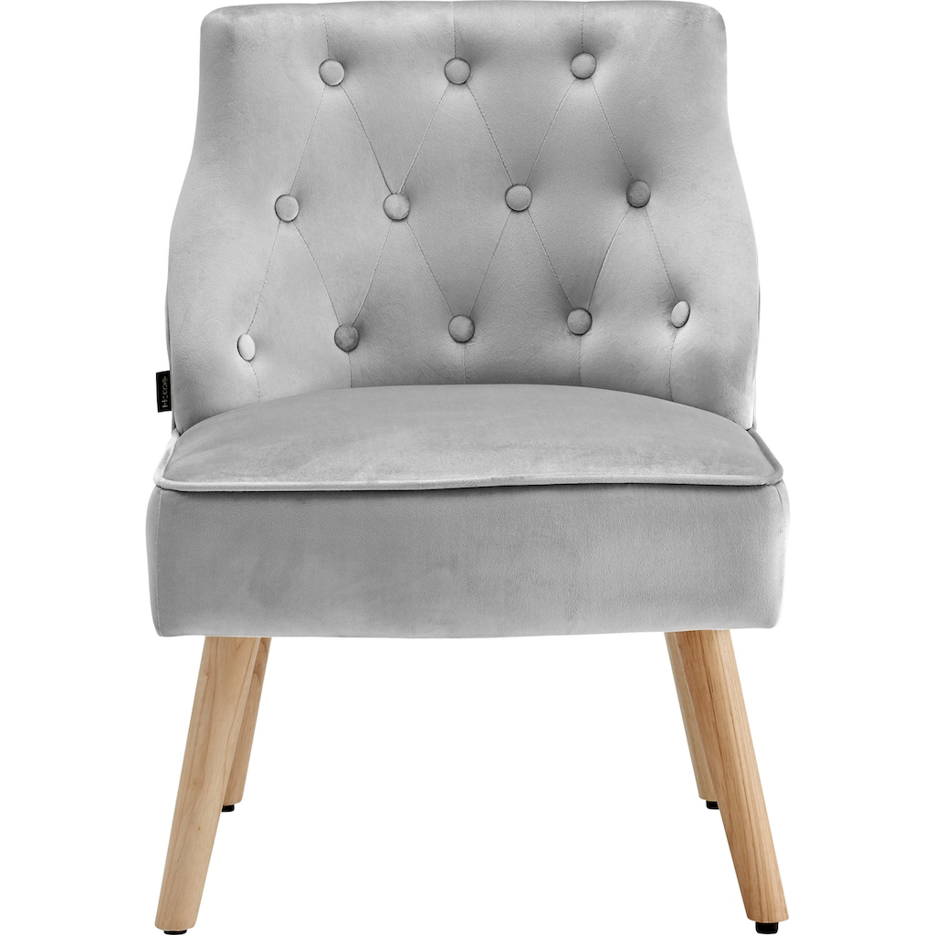 Home affaire Esszimmersessel »Emery«, 2er Set, aus schönem weichen Samtvelours Bezug, Sitzhöhe 42 cm