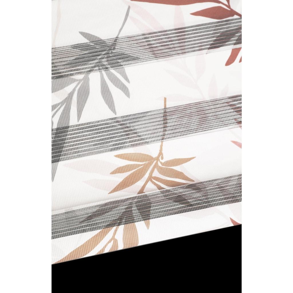 my home Doppelrollo »Autumn«, Lichtschutz, ohne Bohren, freihängend, im Fixmass