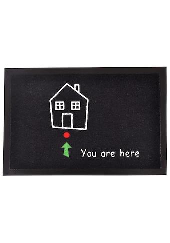 HANSE Home Fussmatte »Standort«, rechteckig, 7 mm Höhe, Schmutzfangmatte, mit Spruch kaufen