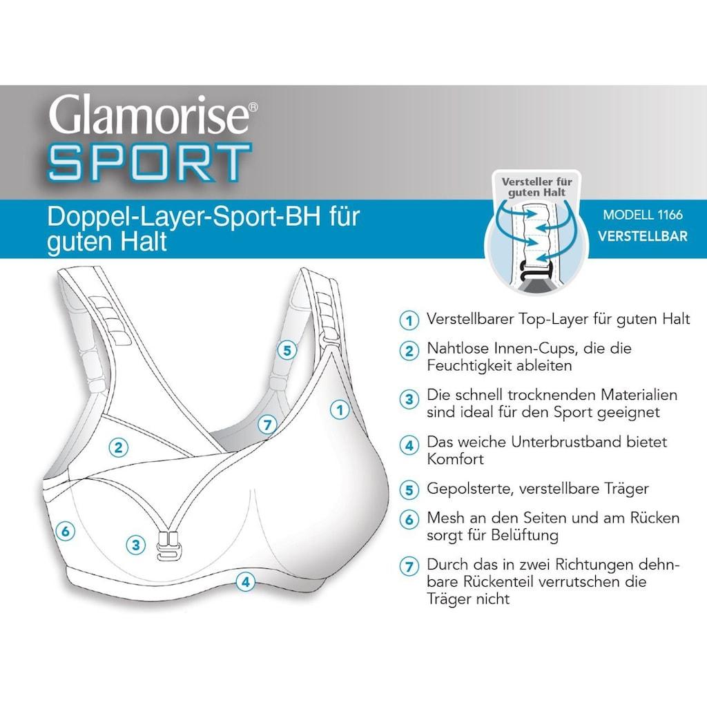 GLAMORISE Sport-BH mit verstellbarer Vorderpartie
