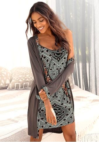 LASCANA Kimono, mit gemustertem Bindegürtel kaufen