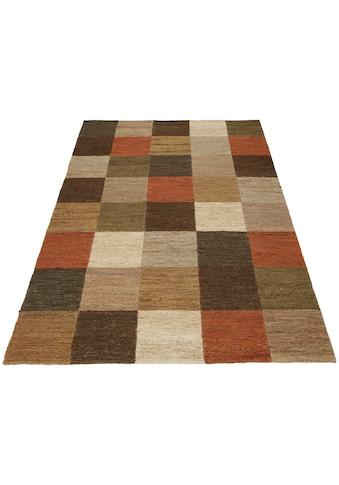 Home affaire Teppich »Check«, rechteckig, 5 mm Höhe, Wohnzimmer kaufen
