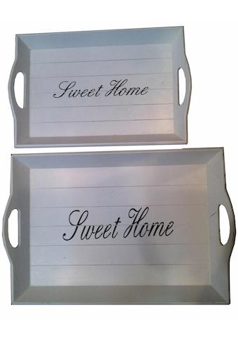 "Home affaire Tablett ""Sweet Home"", MDF kaufen"